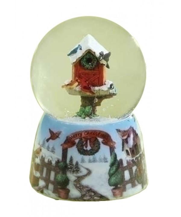 Birdhouse Birds Musical Glitterdome Christmas