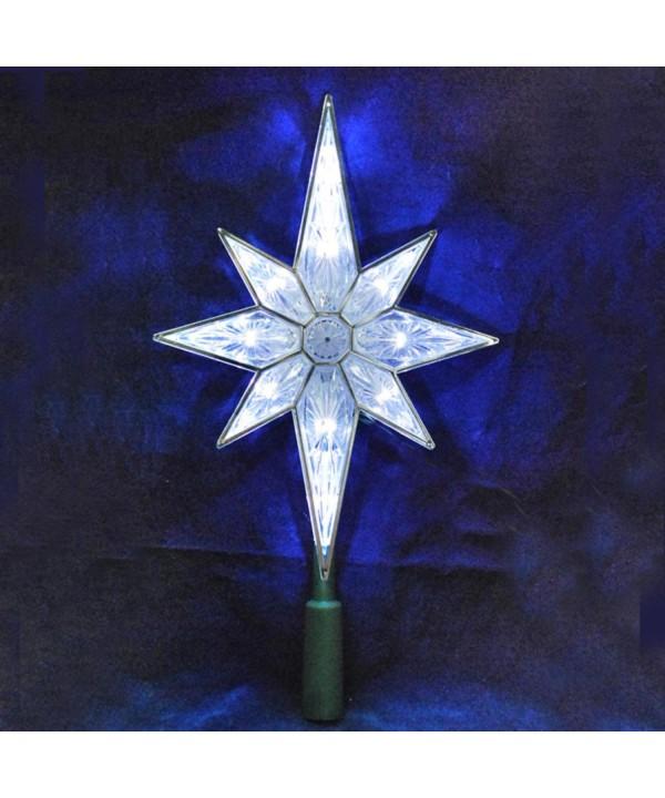 KSA Lighted 8 Point Christmas Topper