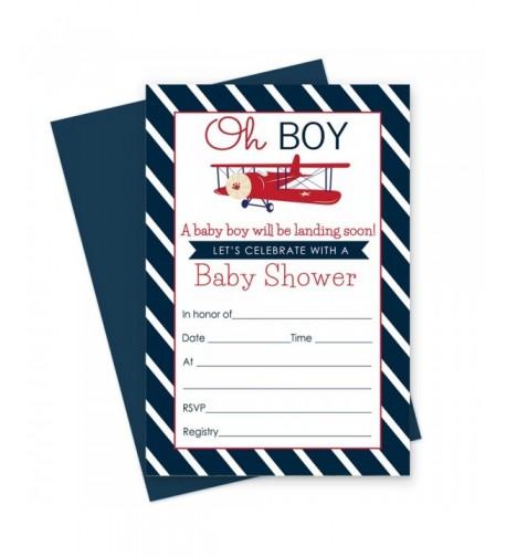 Airplane Baby Shower Invitations Envelopes