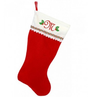 Monogrammed Me Embroidered Christmas Stocking