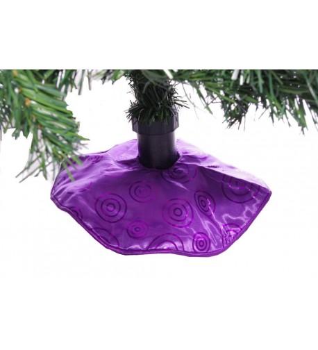 Mini Purple Christmas Tree Skirt