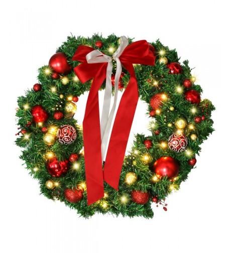 Inch Christmas Wreath LED Lights
