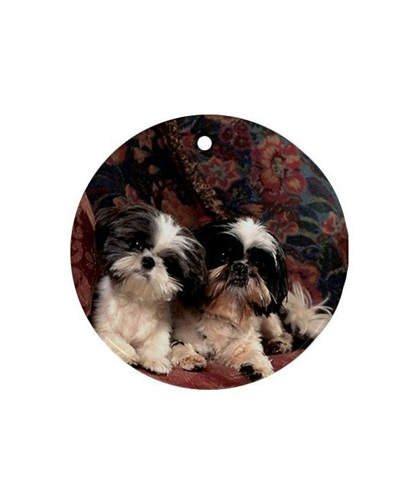 MYDply Puppies Ornament porcelain Christmas
