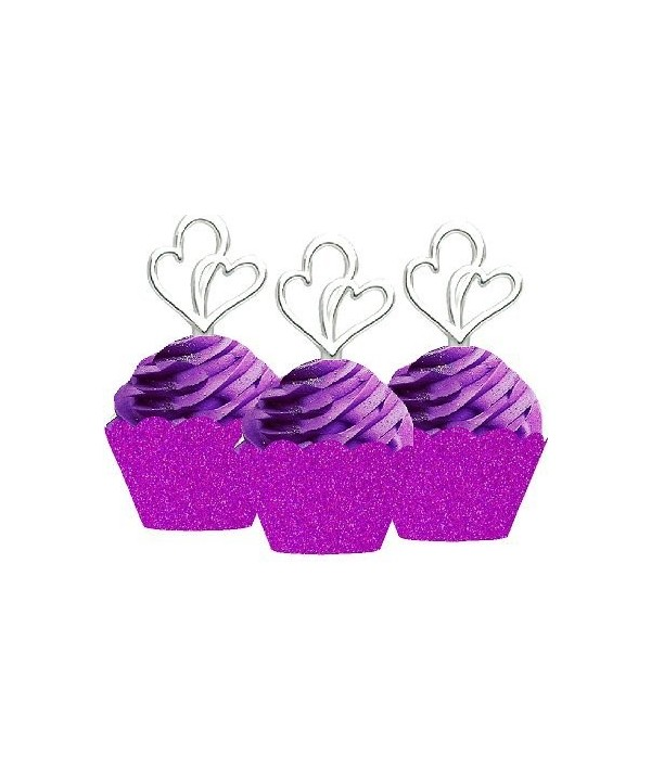 Wedding Anniversary Cupcake Toppers Wrappers