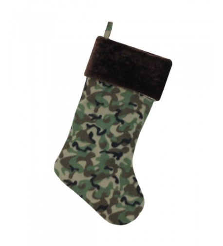 Northlight Camouflage Christmas Stocking Brown