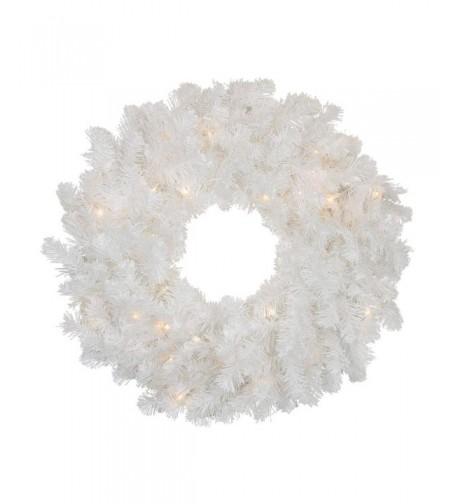 Darice Pre Lit Artificial Christmas Wreath