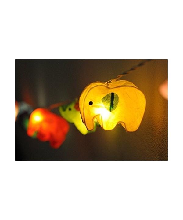 Battery Handmade Colorful Elephant Lantern