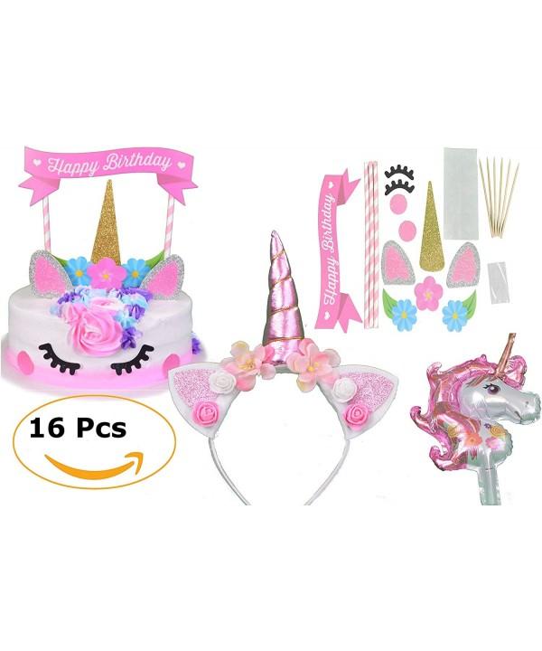 JustBeccuzTM Unicorn Birthday Supplies Headband