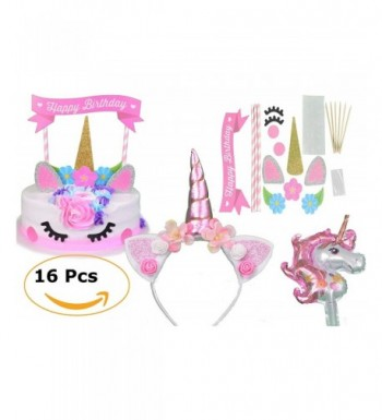 JustBeccuzTM Unicorn Birthday Supplies Headband