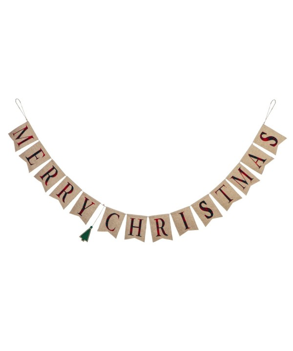 Evergreen Merry Christmas Seasonal Banner