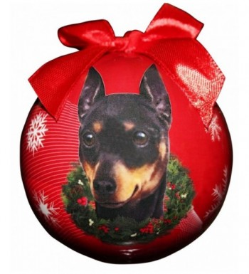 Miniature Pinscher Christmas Ornament Personalize