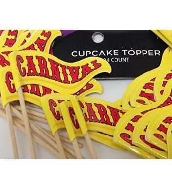 Carnival Cupcake Birthday Decorations Supplies