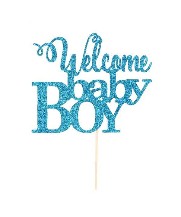 Blue Welcome Baby Cake Topper