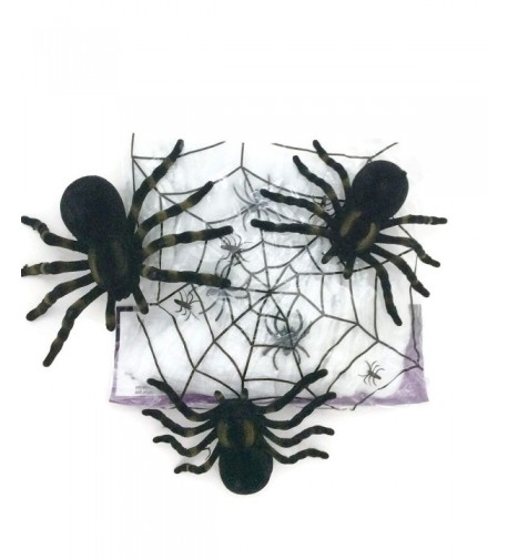 Halloween Spider Webbing Tarantula Spiders
