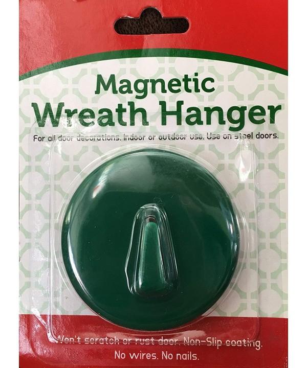 Magnetic Wreath Holder Steel Doors