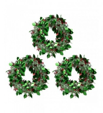 Juvale 3 Pack Christmas Wreath Sparkling