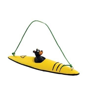 Bear Kayaking Collectible Ornament Decoration