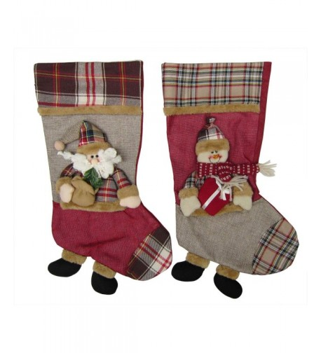 Bellcon Christmas Stocking Fireplace Decoration