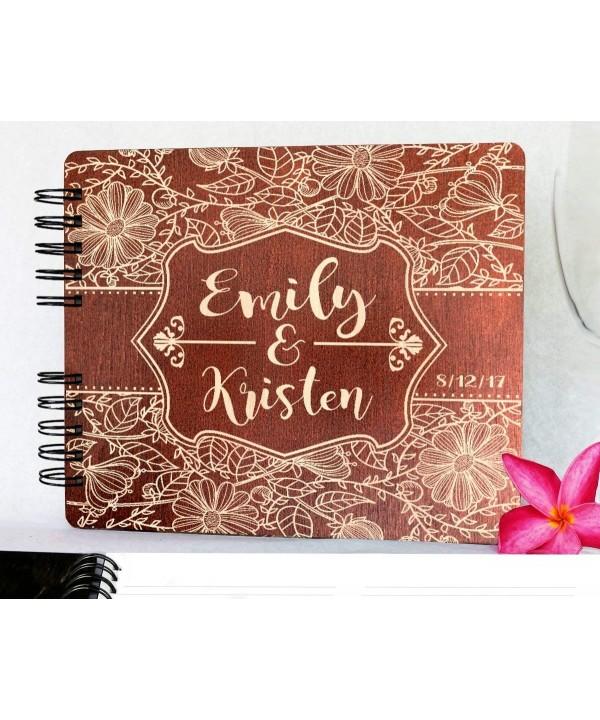 Wedding Guestbook Mahogany Anniversary Engraved
