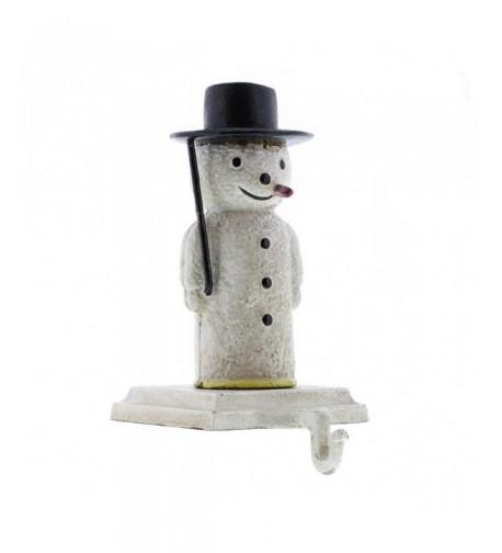 Snowman Stocking Holder Cast Iron
