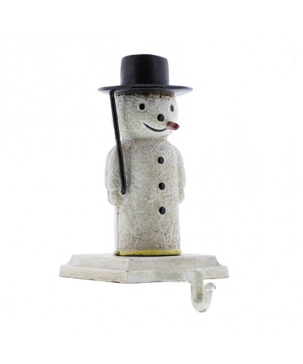 Snowman Stocking Holder Cast Iron