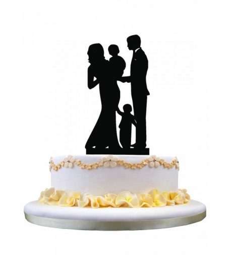 Wedding Topper Family Silhouette Anniversary