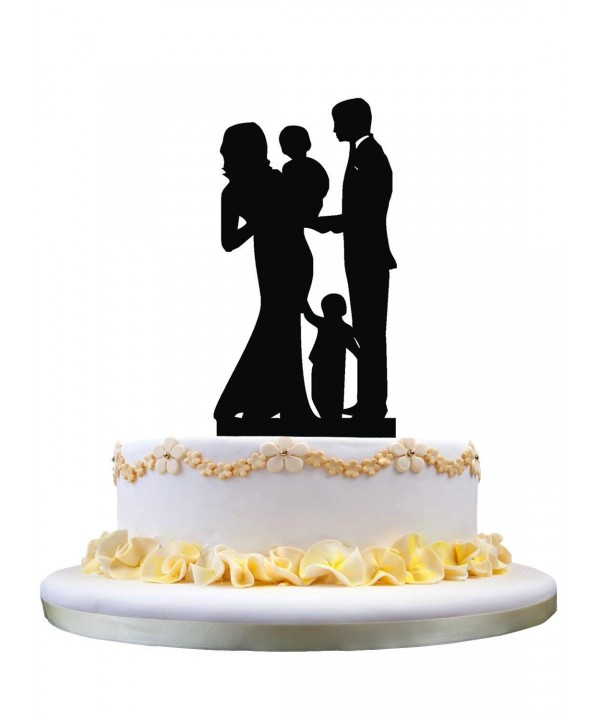 Wedding Topper Family Silhouette Anniversary