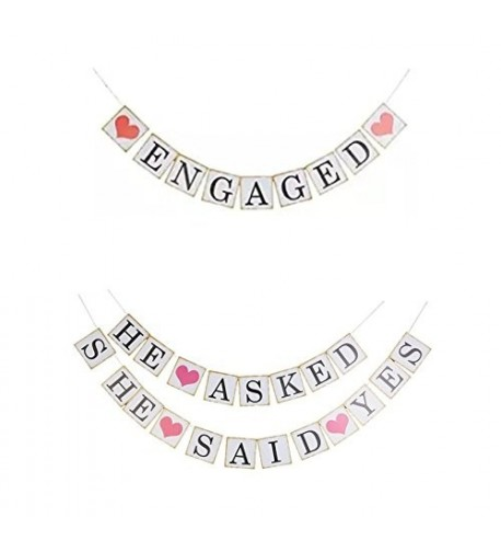 Engagement Bunting Wedding Decoration ENGAGED