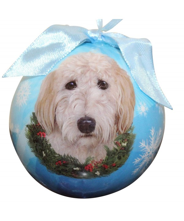Goldendoodle Christmas Ornament Shatter Personalize