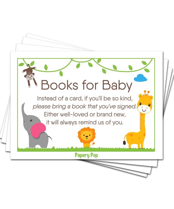 Books Baby Shower Request Cards