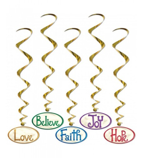 Christmas Word Hanging 40 inch Whirls