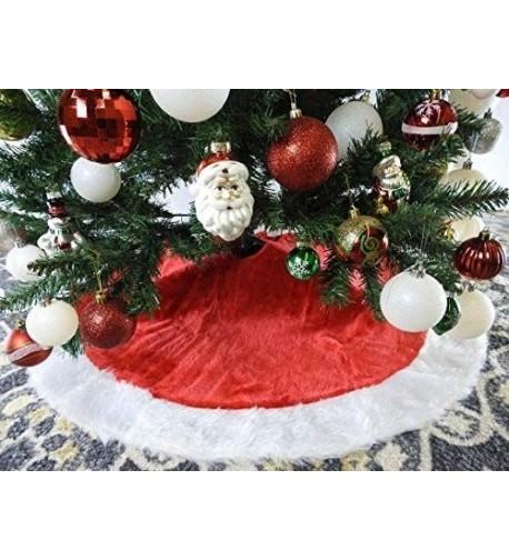 White Plush Christmas Tree Skirt
