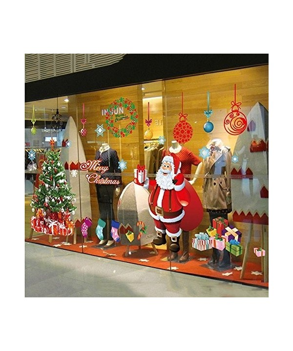 LAPOND Christmas Decals Removable Stickers