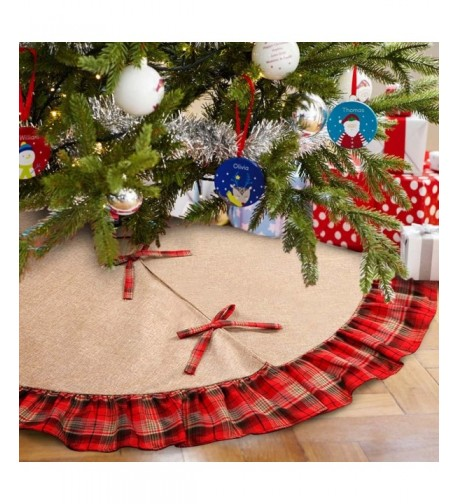 Aparty4u Ruffled Christmas Inches Decorations