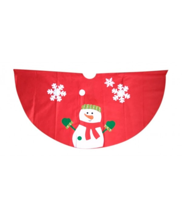 Festive Holiday Character Skirt Snowman
