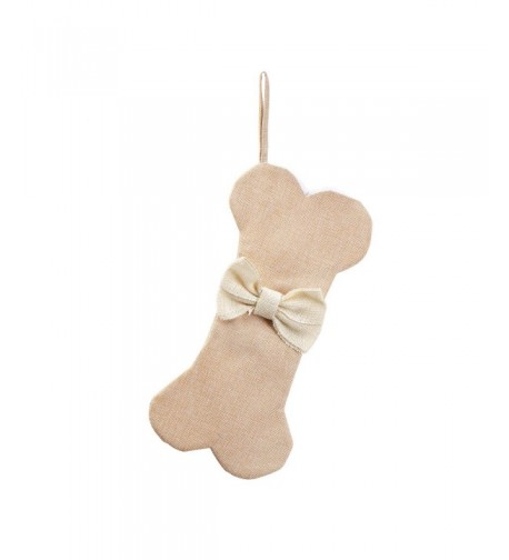 WeiVan Dog Christmas Stockings Beige