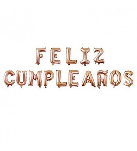FELIZ CUMPLEA OS Letter Balloon Garland