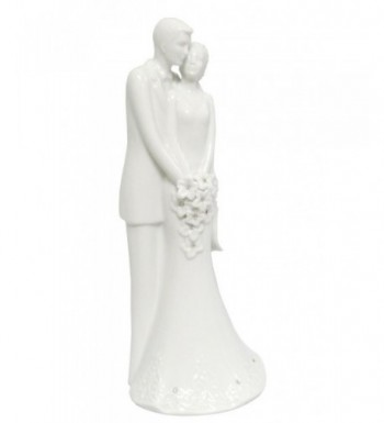 Bloom Porcelain White Wedding Topper
