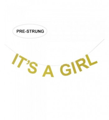 ITS GIRL Gold Glitter Banner