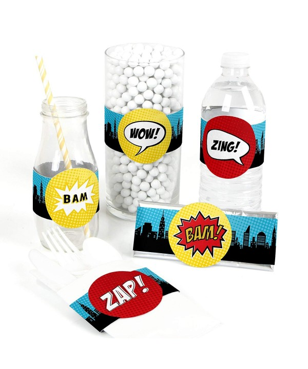 BAM Superhero Supplies Birthday Decorations