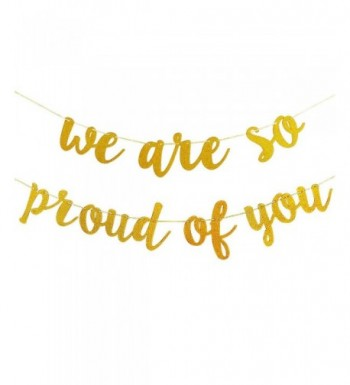 Glittery Proud Banner Graduation Decorations