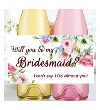 Bridesmaid Proposal Labels Wedding Champagne