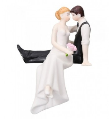 Couple Sitting Painted Porcelain Topper