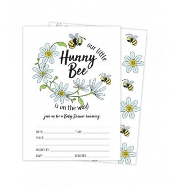 Bumble Shower Invitations Envelopes Stickers