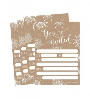 Snowflake Invitations Invitation Anniversary Housewarming