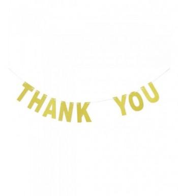 Thank Banner Gold Glitter Bunting