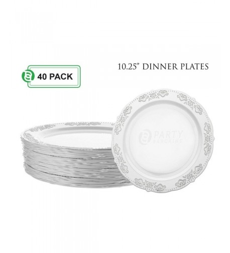 Party Bargains Disposable Heavyweight Dinnerware
