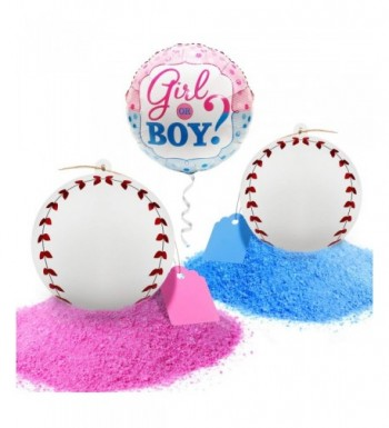 Gender Reveal Baseball Balls Pink