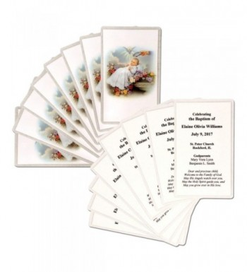 16 Personalized Baptism Holy Cards