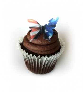 American White Butterflies Decorating Desserts